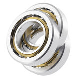 Realistic bearing on a white background with light scratches Stock Photos