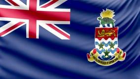 Realistic beautiful Cayman Islands flag 4k stock video