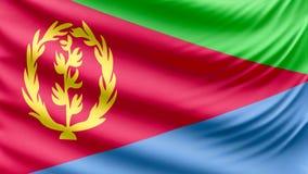 Realistic beautiful Eritrea flag 4k vector illustration