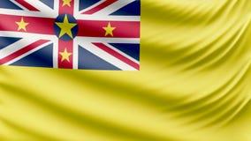 Realistic beautiful Niue flag 4k royalty free illustration
