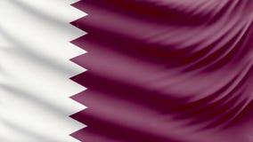 Realistic beautiful Qatar flag 4k stock video