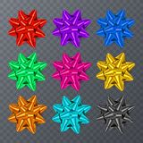 Set of realistic bows isolated on transparent background. EPS 10 vector. Royalty Free Stock Photography