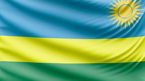 Realistic beautiful Rwanda flag 4k stock video