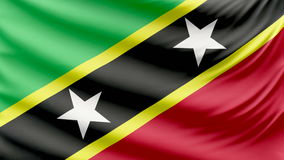 Realistic beautiful Saint Kitts and Nevis flag 4k stock footage