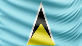 Realistic beautiful Saint Lucia flag 4k stock video footage