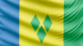 Realistic beautiful Saint Vincent and the Grenadines flag 4k stock video