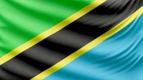 Realistic beautiful Tanzania flag 4k vector illustration