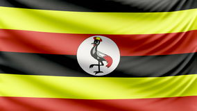 Realistic beautiful Uganda flag 4k stock footage
