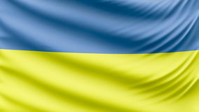 Realistic beautiful Ukraine flag 4k. Realistic, beautiful, satin Ultra-HD Ukraine flag waving in the wind, in a Slow Motion. Loop ready in 4k resolution stock video footage