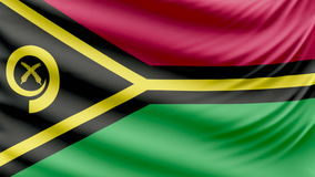 Realistic beautiful Vanuatu flag 4k. Realistic, beautiful, satin Ultra-HD Vanuatu flag waving in the wind, in a Slow Motion. Loop ready in 4k resolution stock footage