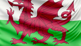 Realistic beautiful Wales flag 4k stock video footage
