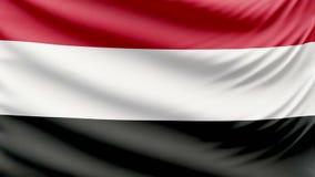 Realistic beautiful Yemen flag 4k stock video footage