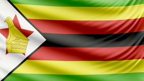 Realistic beautiful Zimbabwe flag 4k stock video