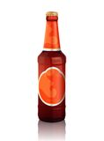 Realistic beer bottle Royalty Free Stock Images