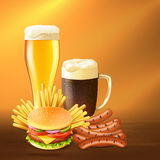 Realistic Beer Illustration Royalty Free Stock Photo