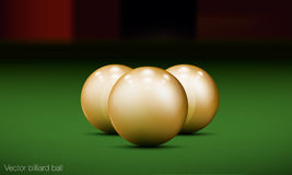 Realistic billiard ball. On a pool table royalty free illustration