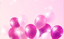 Realistic birthday background with balloons. Vector Royalty Free Stock Photography