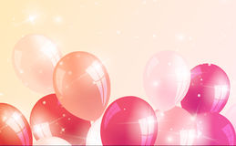 Realistic birthday background with balloons. Vector Stock Images