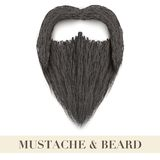 Realistic Black beard with curly mustache Royalty Free Stock Photos