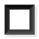 Realistic black frame Stock Image
