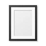 Realistic black frame A4 Royalty Free Stock Photos
