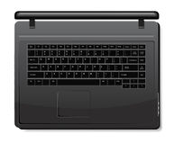 Realistic black laptop Royalty Free Stock Images