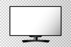 Realistic black modern TV monitor isolated Stock Image