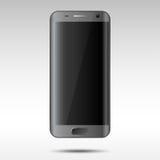 Realistic Black Smartphone Stock Image