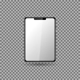 Tablet with blank screen.  eps10. Realistic black tablet with blank screen. Isolated Element. Vector illustration. eps10 Stock Photo