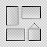 Realistic black and white empty photo frames template Royalty Free Stock Images