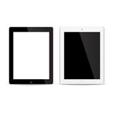 Realistic black and white tablets isolated on white. Stock Images