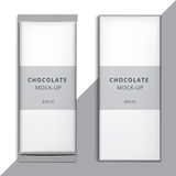 Realistic blank 3D chocolate bar template design. Choco packagin Royalty Free Stock Photography