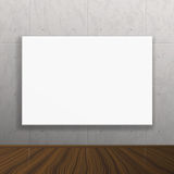 Realistic blank mock up poster on concrete wall. Royalty Free Stock Photography