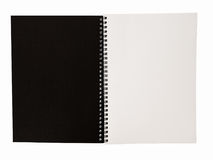 Realistic blank notebook template for cover design school business diary.  stock photo