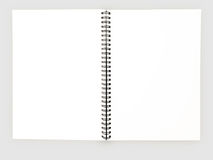 Realistic blank notebook template for cover design school business diary.  royalty free stock images