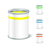 Realistic Blank Open Paint Bucket. Tin For Liquid. Mock Up To Ad Royalty Free Stock Image