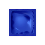 Realistic blank packaging foil wet wipes, food packing or condom template. Royalty Free Stock Photos