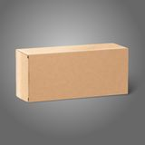Realistic blank paper craft package box. Isolated Royalty Free Stock Photos