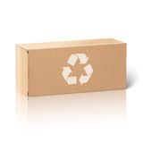 Realistic blank paper craft package box. Isolated Royalty Free Stock Photo