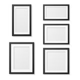 Realistic blank picture frame templates set  on white background. Stock Photos
