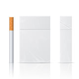 Realistic blanks of cigarette pack Stock Photos
