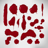 Realistic blood drops set. Vector illustration of Royalty Free Stock Photo