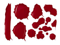 Realistic blood drops set. Vector illustration of Stock Photography