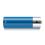 Realistic blue battery icon Royalty Free Stock Photos