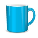 Realistic blue cup. Vector illustration Stock Image