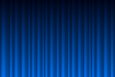 Realistic blue curtain Royalty Free Stock Photography