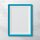 Realistic blue frame. Stock Images