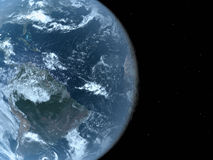 Realistic Blue Globe with Clipping Path Royalty Free Stock Images