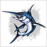 Realistic blue Marlin fish Royalty Free Stock Images