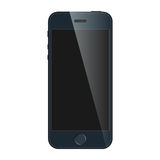 Realistic blue mobile phone with blank screen isolated on white background. Modern concept smartphone device  Stock Images